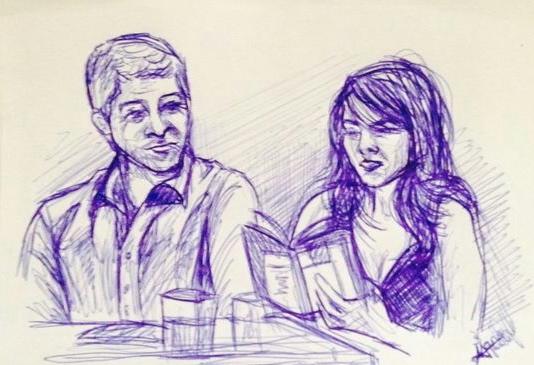 presentación de Compás de espera_dibujo de Marina Blanco